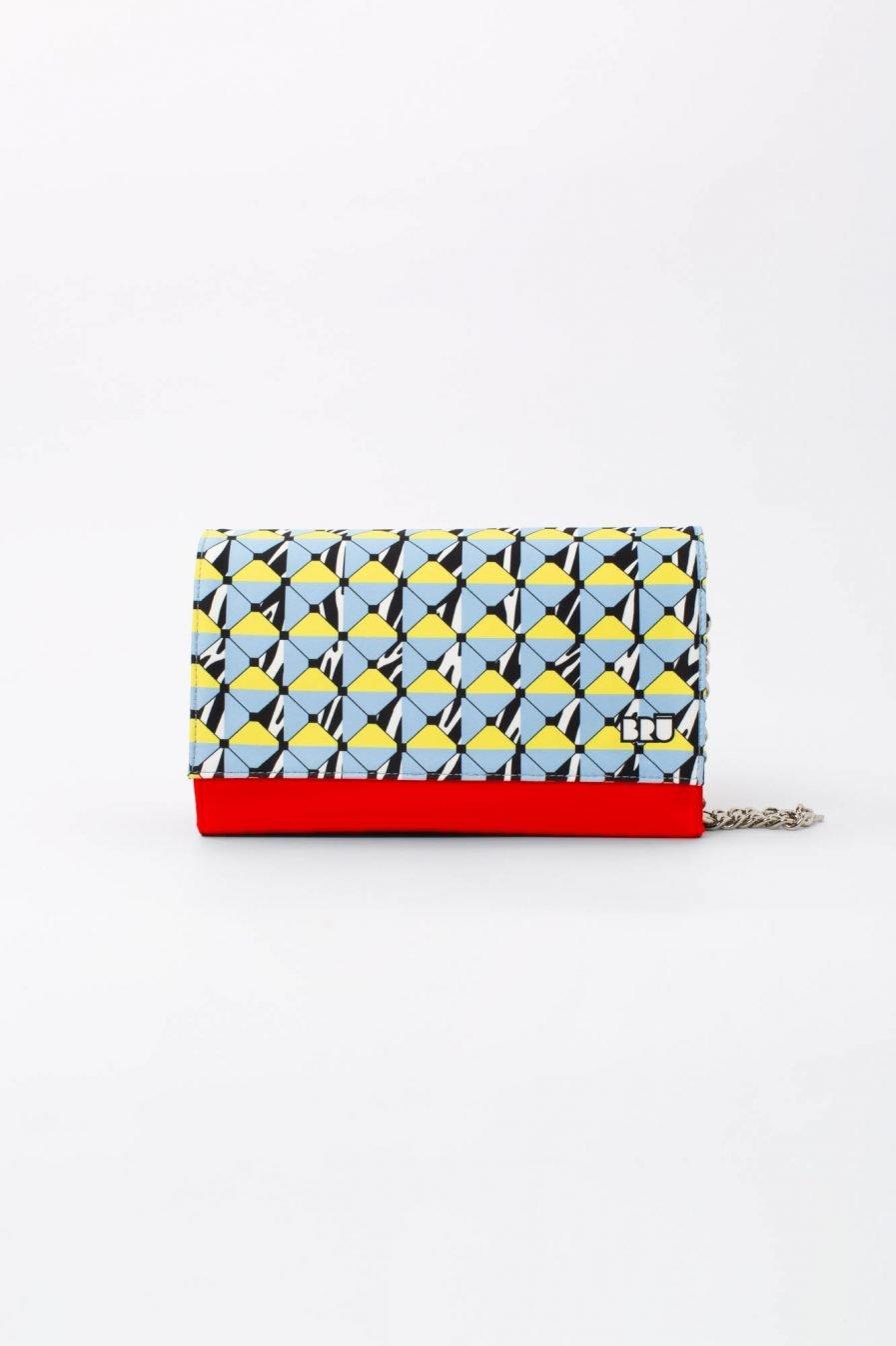 borsa rossa geometrica