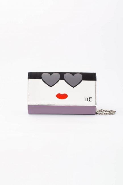 borsetta con catena violet