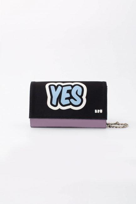 borsetta con catena viola