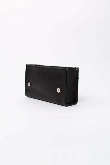 scocca nera borsa componibile da donna